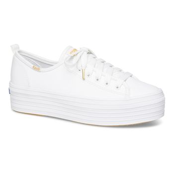 Triple Up Leather White