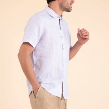 Camisa  Stripshort para Hombre - Stripe Lavendula