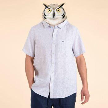 Camisa  Stripshort para Hombre - Stripe Indigo