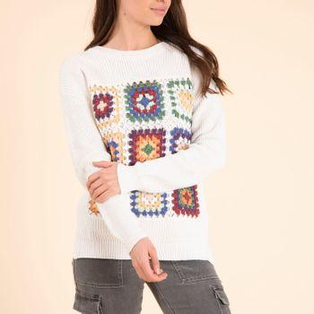 Sweater Rebel para Mujer - Blanc